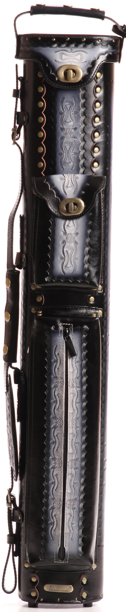 Instroke Saddle Series Leather Pool Cue Cases D06 Black